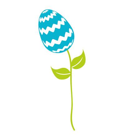 分離された茎アイコン デザイン、ベクトル イラストレーション グラフィック上の甘い卵ペイント カラフル