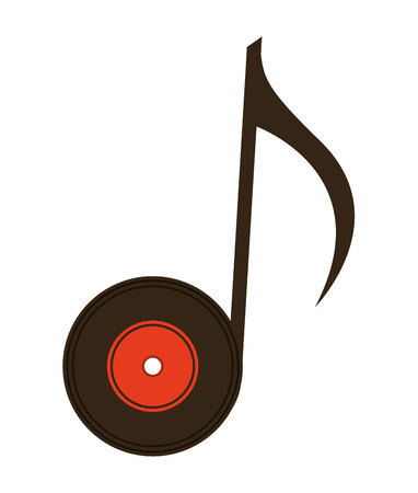 grooves: vinyl with note isolated icon design, vector illustration  graphic Illustration