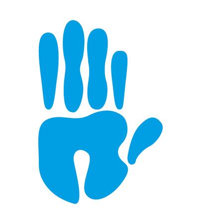 hand print: hand print isolated icon design, vector illustration  graphic