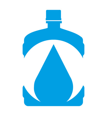 distilled: water big bottle isolated icon design, vector illustration  graphic Illustration
