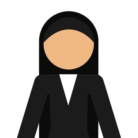 religious habit: nun avatar isolated icon design, vector illustration  graphic Illustration
