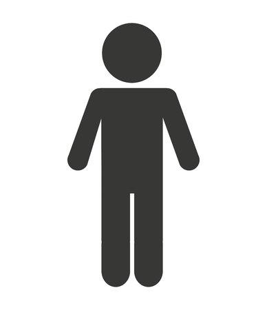 avatar van het mensencijfer geïsoleerd pictogramontwerp, vector grafische illustratie