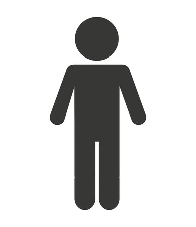 man figure avatar isolated icon design, vector illustration  graphic