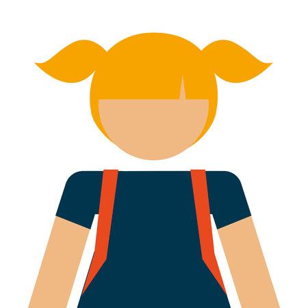 student girl avatar isolated icon design, vector illustration  graphic Ilustração