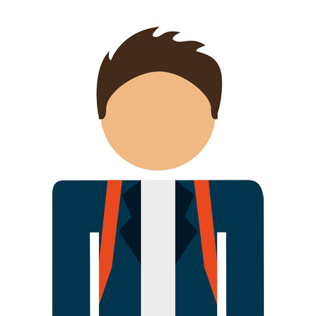 animation teenagers: student boy avatar isolated icon design, vector illustration  graphic
