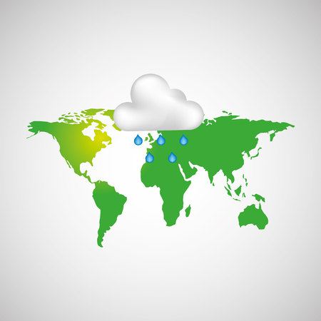 heaven on earth: climate cloud weather nature isolated, vector illustration eps10 Illustration