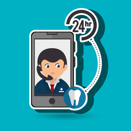response time: 24-hour health odontology isolated icon design, vector illustration  graphic
