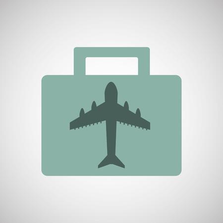 urban planning: people travel destination isolated, vector illustration eps10