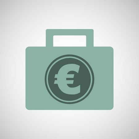 exchanger: euro finance bag isolated, vector illustration eps10