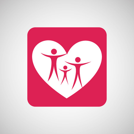 family isolated: family people love heart isolated, vector illustration eps10
