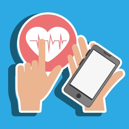 smartphone service medical icon vector illustration eps 10
