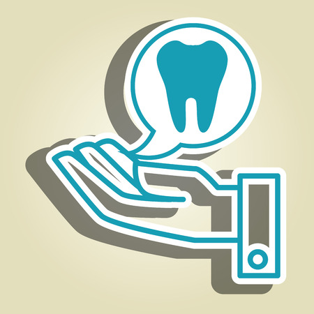 odontology: hand service medical isolated icon vector illustration