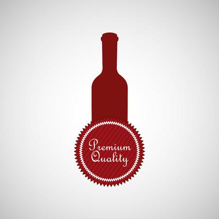 vino: wine grapes icon design, vector illustration eps10 Illustration