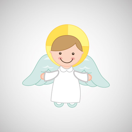 angel wings religion   isolated, vector illustration eps10