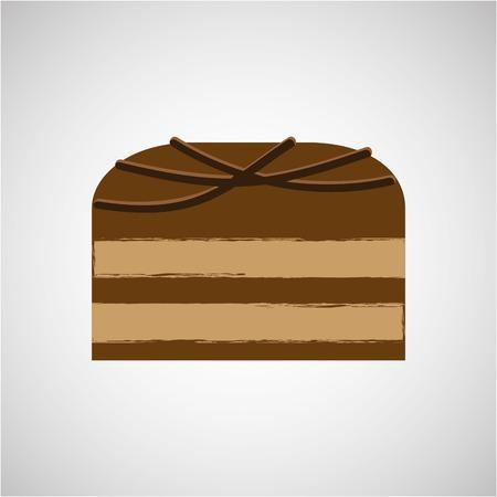 choc: chocolate sugar desert   isolated, vector illustration eps10