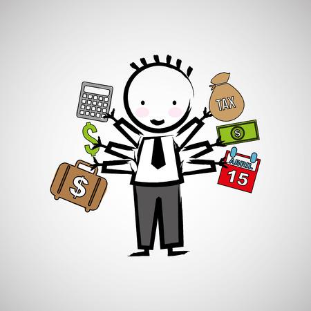 tax business finance   isolated, vector illustration eps10 Illustration