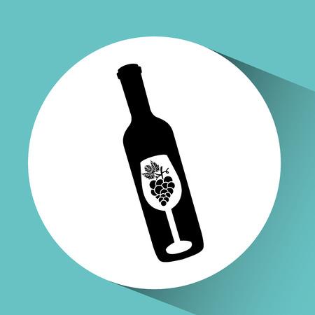 wine grapes: wine grapes icon design, vector illustration eps10 Illustration