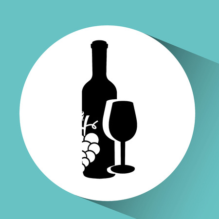raceme: wine grapes icon design, vector illustration eps10 Illustration