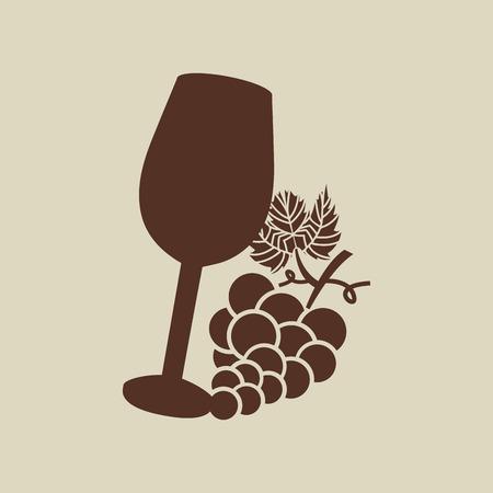 viticulture: wine grapes icon design, vector illustration eps10 Illustration