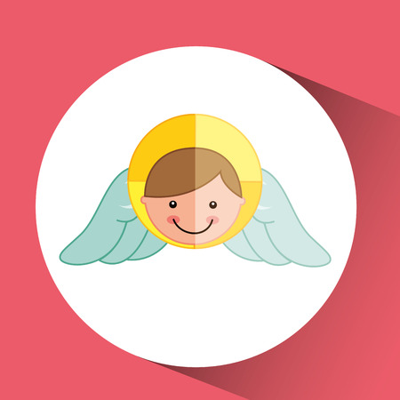 angelic: angel wings religion   isolated, vector illustration eps10