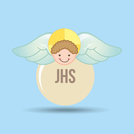animal angelic: angel wings religion   isolated, vector illustration eps10