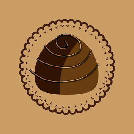 antioxidant: chocolate sugar desert   isolated, vector illustration eps10