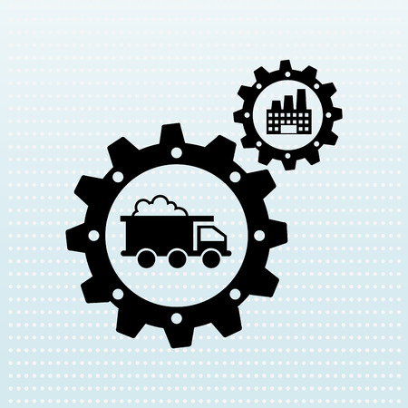 engineering icon: industrial plant design, vector illustration eps10 graphic