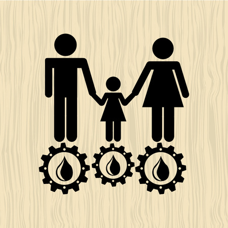 ecological: ecological family design, vector illustration eps10 graphic