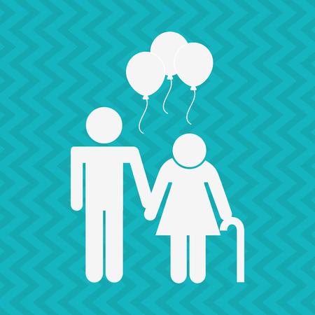 outing: family celebration  design, vector illustration eps10 graphic