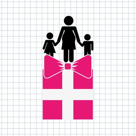 family celebration: family celebration  design, vector illustration eps10 graphic