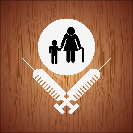 lifeline: family healthcare design, vector illustration eps10 graphic