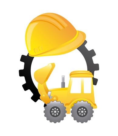 under construction machinery isolated icon design, vector illustration graphic
