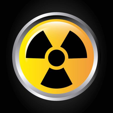 radioisotope: atomic signal button isolated icon design, vector illustration  graphic