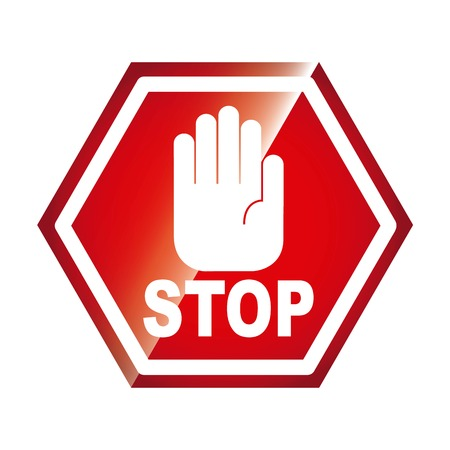 restrictive: stop signal isolated icon design, vector illustration  graphic Illustration