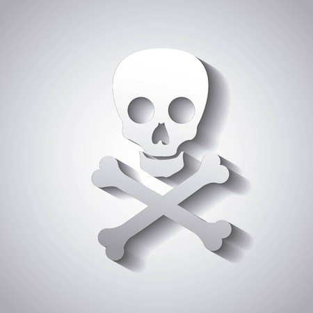 electroshock: danger caution skull isolated icon design, vector illustration graphic isolated