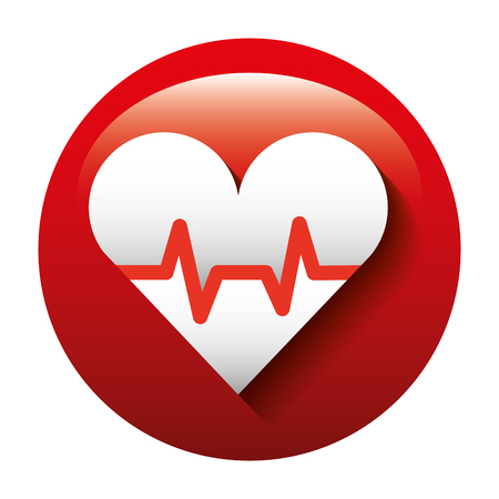 heart health: heart health medical vector illustration symbol shape Illustration