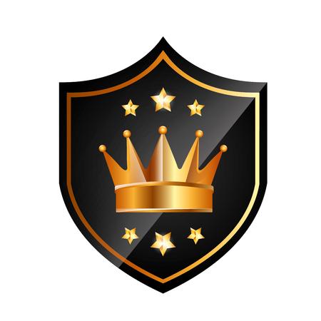icône or couronne design graphique illustration vectorielle