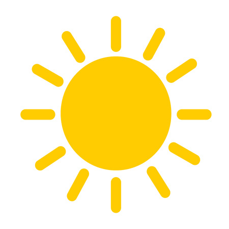 sun weater season icon nature illustration vector
