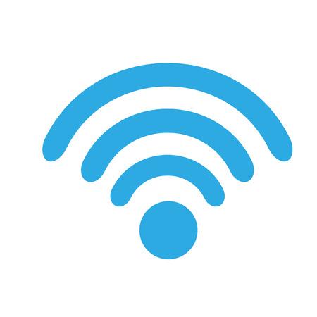 WiFi-technologie signaal internet communicatie illustratie vector Stock Illustratie