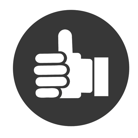 using senses: thumb up, hand with finger up vector