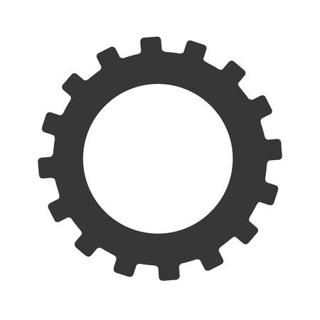 gear icon: gear machinery industry icon, vector illustration design Illustration