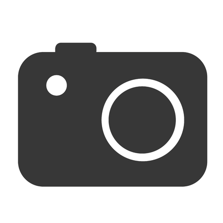 digicam: digital camera icon, technology photography vector illustration Illustration