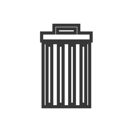 waster: Trashcan waster icon garbage can vector illustration Illustration