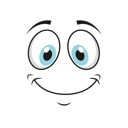 gelukkig grappige cartoon gezicht icoon, vector illustation Vector Illustratie