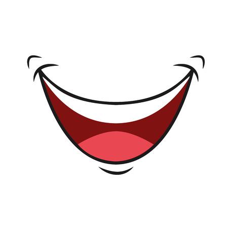 illustation: happy cartoon mount icon, vector illustation character Illustration
