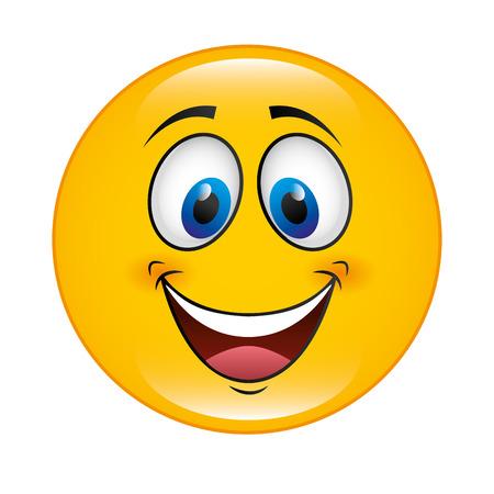 illustation: happy cartoon face icon, vector illustation character