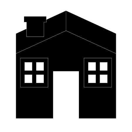 residential home: house silhouette icon residential home vector illustration