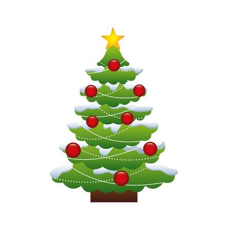merry chrismas: merry chrismas tree icon illustration design vector