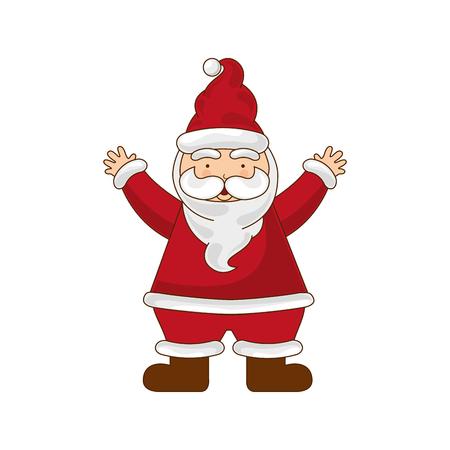 merry chrismas: merry chrismas icon xman illustration design vector Illustration