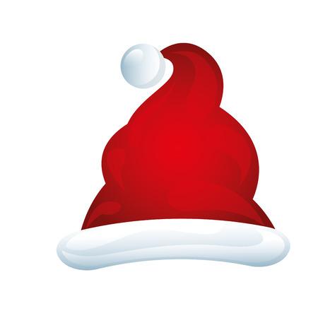 merry chrismas: merry chrismas icon hat illustration design vector